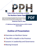 Public-Private Partnerships in Health-The Northern Samar Experience