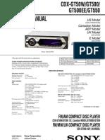 Sony Cdx-gt50w, Gt500, Gt500ee, Gt550 Service Manual