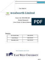 Woolworths Ltd - A Case Study Report
