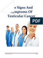 The Signs And Symptoms Of Testicular Cancer