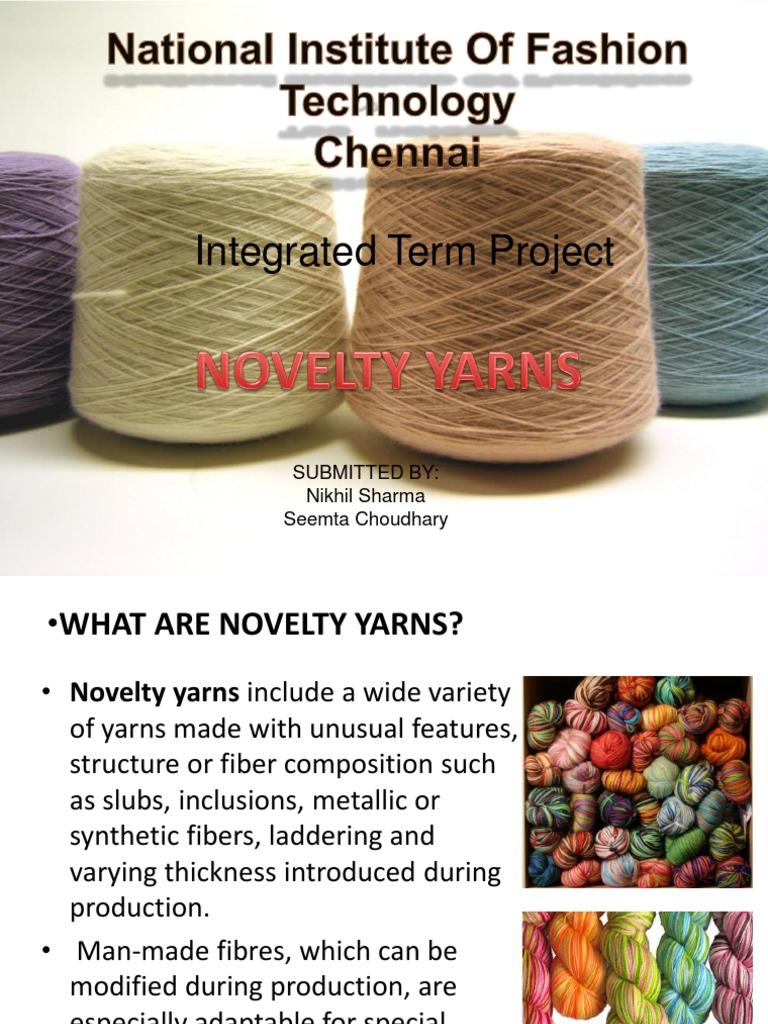 Novelty Yarn Yarn Clothing Industry
