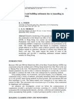 Forth & Thorley 1995 - Ground & Building Settlment Due to Tunnelling in Hong Kong
