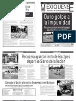 Versión impresa del periódico El mexiquense 9 julio 2012