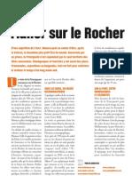 Flâner sur le Rocher, Faire Face 710, juillet-août 2012, pages 42-43