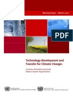 Technology Development and Transfer for Climate Change
