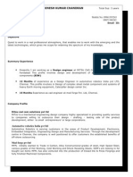 Dinesh Cv June 2012 - Updated