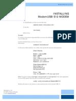 ModemUSB E12 Linux