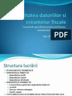Contabilitatea Datoriilor Si Creantelor Fiscale