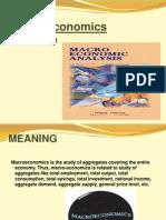 Macro Economics Introduction