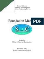 Caltrans Foundation Manual 2010