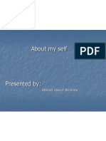 About My Self -Capstone Ppt