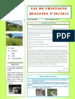 BULLETIN N° 20 2012