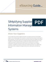 Supplier Information Management Systems - SIMplified