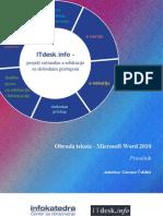 Prirucnik Obrada Teksta Microsoft Word 2010