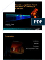 Large-Scale Tunnel Fire Tests and the use of CFD modelling to predict Thermal Behaviour _Gabriele_Vigne_151009