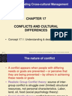 Chap17 CONFLICTS AND CULTURAL DIFFERENCES