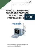 Manual Ecografo Th-100 - Teknova