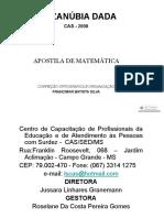 APOSTILA DE MATEMÁTICA  - Libras