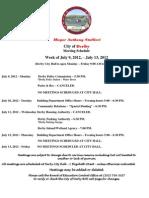 Week Starting July 9