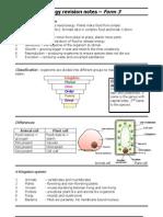 f3Biol Revision Notes