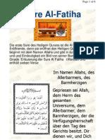 Sure Al - Fatiha ( Kommentar Auf Deutsch )  سورة الفاتحة