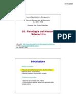 Fisiologia Del Muscolo Scheletrico