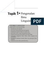 Topik 1 Pengenalan Ilmu Linguistik