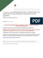 Francisco Dirceu Barros-A Causa de Registrabilidade Geral e Compulsoria Uma Forma Eficaz Para Combater o Machismo Politico Eleitoral