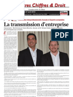 La Transmission d'Entreprise - Compte-rendu publié en ligne par La Tribune Bulletin Côte d'Azur le vendredi 18 mai 2012.pdf