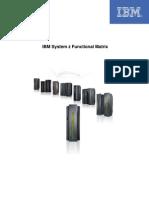 IBM - zSeries - System z y zSeries Functional Matrix