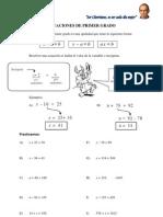 Ecuaciones e Inecuaciones