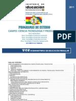 Programa Estudio Educacionsecundaria Comunitaria Productiva Campo Cienciaytec