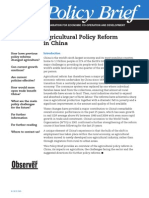 Agricultural Policy Reform in China
