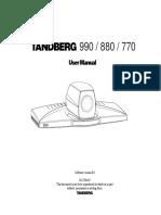 Camara Tandberg 990 880 770 Manual