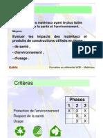 Préf HQE _6 Cible 6 Choix Des Matériaux N-PdC2003
