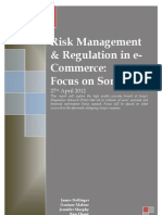 (Sony PSN) Risk Management and Regulation in E-Commerce Assignment Final 2012