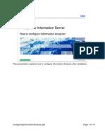 Configuring Information Analyzer