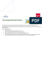 Home Energy Self Audit