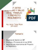 Ley 29783. Ley de SSO