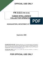 Army Fm 2223 Human Intel
