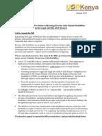 USPKenya Position Paper-Legal Aid Bill, Kenya Jan 2012