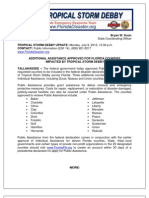 Additional Assistance Approved for Florida Counties Impacted by Tropical Storm Debby - Esf 14 Press Release 07 09 12