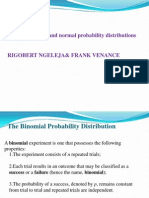Binomial, Poison and Normal Probability Distributions