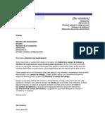 Carta Solicitud Empleo