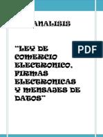 Analisis Ley de Comercio Electronico