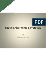 Routing Algorithms & Protocols