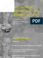Aeromedical Concerns With the Diabetic Patient Presentation