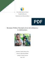 Resumen Politicas a Favor de La Infancia