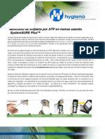 Monitoreo de Manos Por ATP. Hygiena