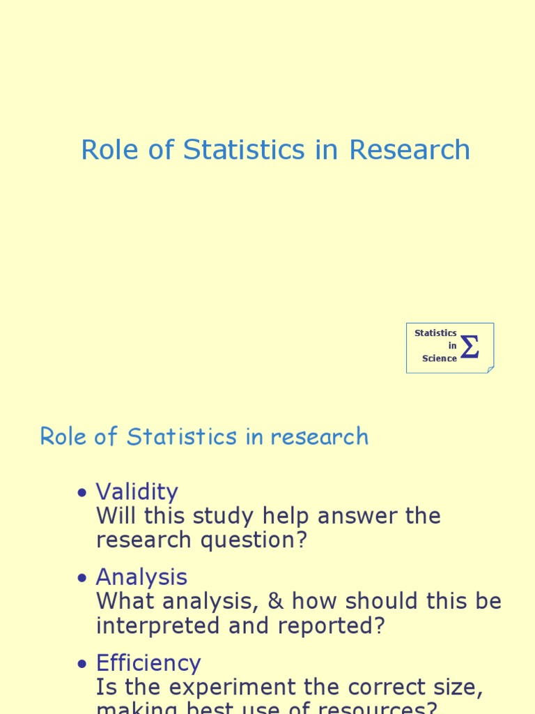 The Role of a Statistician In a Pre-Clinical Study - Data CRO